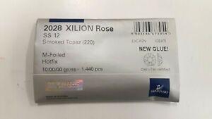 sealed package,1440 swarovski xilion hot-fix flatbacks,12ss smoked topaz #2028