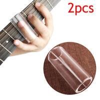 2pcs Light Clear Thickness Glass Guitar Slides Heavy Wall Finger Tube Slide 60mm