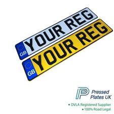 Pressed Number Plates GB Metal Logo Flag Embossed Reg Plate Raised Metal Car