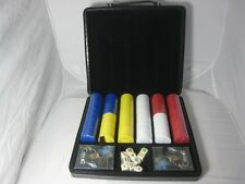 Colibri Black Leather Travel Cigar Humidor Poker Set Cards Poker Chips
