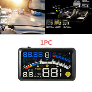 1X 5.5'' OBII Car HUD Head Up Display Digital Speeding Warning System Plastic