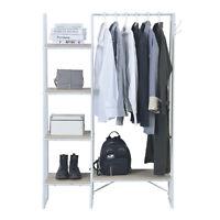 Garment Clothes Rack Storage Closet Hanger Metal Stand Shelf Shoe Organizer New