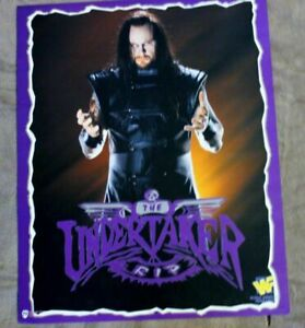 WWF Undertaker RIP 1996 World Wrestling Federation Norman James Titan Poster VF