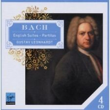 Gustav Leonhardt-English suites & partitas 4 CD NEUF solo clavecin Bach