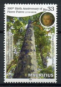Mauritius Trees Stamps 2019 MNH Pierre Poivre 300th Birth Anniv Nature 1v Set