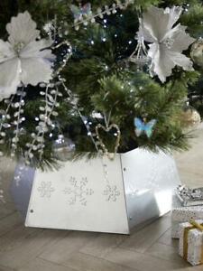 Christmas Tree Collar Hexagon Shaped Metal Base Cover 68cm Diameter