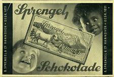 Sprengel -- Schokolade -- Sprengel Vollmilch Schkolade -- Werbung von 1928
