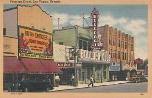Fremont Street Stores Postcards Stetson Boulder Club Theatre Las Vegas NV Casino
