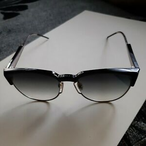 Dior grey shaded browline ladies sunglasses