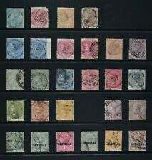 JAMAICA, QV, a collection of 27 older stamps for sorting, used condition.