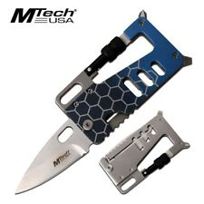 Mtech Credit Card Folding Pocket Knife Multi-Tool Aluminum Tactical Survival