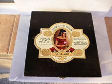 La Flor De Jose Suares Murias Santiago black wooden box Tabacos use rare