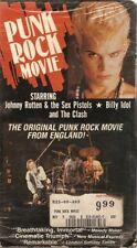 PUNK ROCK MOVIE VHS Sex Pistols Billy Idol The Clash