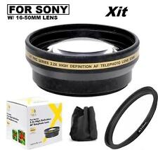 2.2x Telephoto Lens For Sony Alpha A5000 A5100 A6000 A6300 w/ 16-50mm Lens