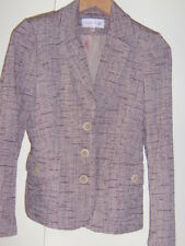 Vintage Phase Eight Natural Plum Wine Tweed Look Jacket Size 8/10 Autumn Layers