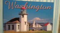 photo post card POINT ROBINSON LIGHTHOUSE  VASHON ISLAND WASHINGTON