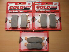 GOLD-FREN FRONT & REAR BRAKE PADS (3x Sets) for: YAMAHA YZF R6 1999-2002