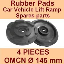 SET OF 4 PADS for OMCN - 2 Post Car Lift Ramp Rubber Pads - 145mm -made in ITALY