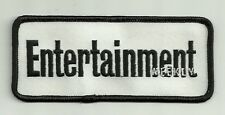 """2"""" x 4 7/8"""" Black White Entertainment Weekly Embroidery Applique Patch"""