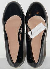 NEW YORK AND COMPANY Women's Patent Round Toe Flats in Black  SZ 6 (NWT)