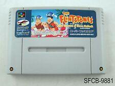The Flintstones Treasure of Sierra Madrock Super Famicom Import SFC US Seller B