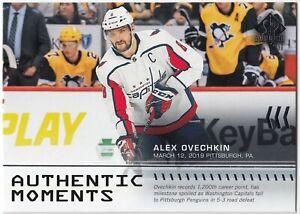 ALEX OVECHKIN 2019-20 Upper Deck SP Authentic Moments 103 Washington Capitals UD