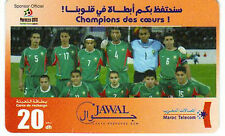 TELECARTE PHONE CARD FOOTBALL SELECTION MAROC JAWAL 2010 PORT A PRIX COUTANT