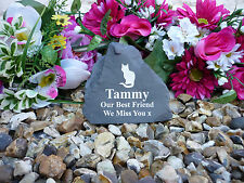 Pet Memorial Rock - Small (Stone effect) Personalised - Weatherproof - Cat