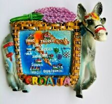 Croatia Donkey 3D Resin Holiday Tourist Travel Souvenir Gift Fridge Magnet