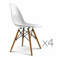 Artiss BA-BB-DSW-PP-WHX4  4 Retro Beech Wood Dining Chair - White