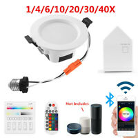 RGBWWCW LED Ceiling Lamp Down Light WIFI/Bluetooth APP Dimmable Music Spotlight