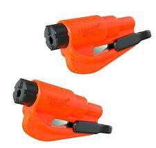 resqme The Original Keychain Car Escape Tool, Made in Usa (Orange) - 2 Pack