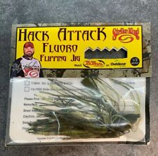 New STRIKE KING Hack Attack Fluoro 1/2 Oz. Flipping Jig Blue Craw