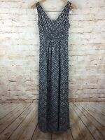 Eddie Bauer Womens Gray Black Sleeveless Maxi Dress Size XS
