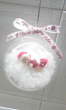 Palla sfera di natale bimba baby fimo pasta di mais porcellana fredda