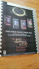 Lord of the Rings Tarot Deck Card Game Poster JRR Tolkien 1997 Original