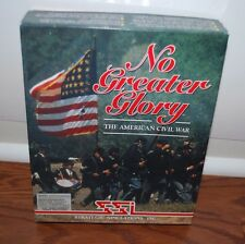 NO GREATER GLORY THE AMERICAN CIVIL WAR IBM PC 3.5 FLOPPY DISK WAR GAME
