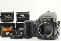 【 Near MINT 】 Mamiya 645 Pro Body AE Finder 120 Film Back Winder Grip from JAPAN