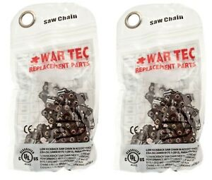"Genuine WAR TEC Chain 14"" Chainsaw Chain Pack Of 2 Fits STIHL MS170 017 MS171"