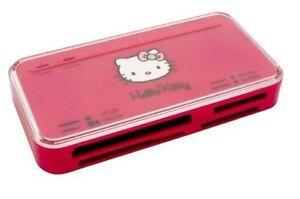 HELLO KITTY 53in1 Kartenlesegerät KARTENLESER Speicherkarten Leser PINK ROSA PC