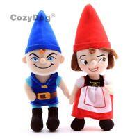 2pcs Cartoon Gnomeo and Juliet Plush Doll Soft Stuffed Toys 30cm Lovers Gift