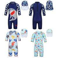 Kids Baby Boys Swimsuit Swimwear Bathing Beach Rash Guard Surfing Suit UPF50+