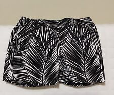 NWOT Cache Black And White Palm Print Size 0