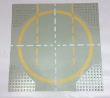 Classic Space Lego Base plate #6099px2 Gray Yellow Landing Pad (1 Way) 497 928