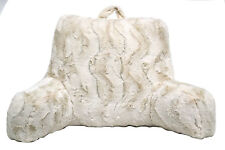 BED REST PILLOW Backrest Back Arm Support Relax Faux Fur Cushion Reading Lounger