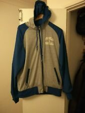 rare franklin and marshall 2in1 reverisble jacket hoodie blue L man