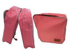 Borse laterali separate DIEFFE rosa con cerniera borsa per city bike bicicletta