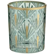Deco Glam Art Deco Tealight Holder Enjoy a Warming, Stained-glass Glow At Home.
