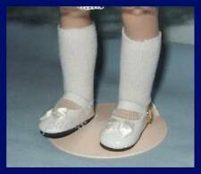 """WHITE Patent Doll Shoes fit 13"""" Effner LITTLE DARLINGS Tonner 14"""" Betsy McCall"""