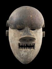 MASQUE AFRICAIN SALAMPASU DE GUERRIER -RDC ZAIRE -PIECE ANCIENNE-AA1267